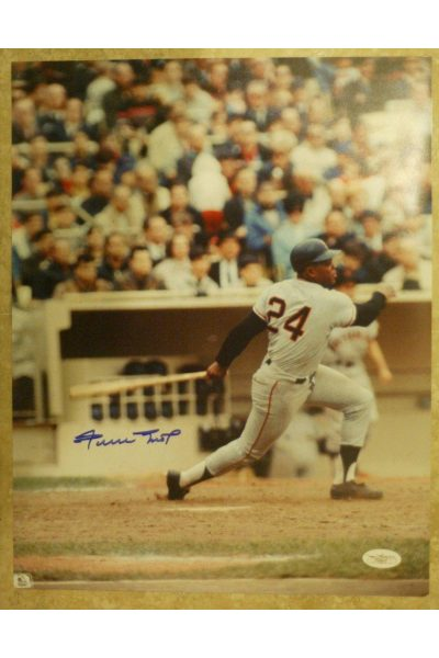 Willie Mays 11x14 Photo Signed Autographed JSA