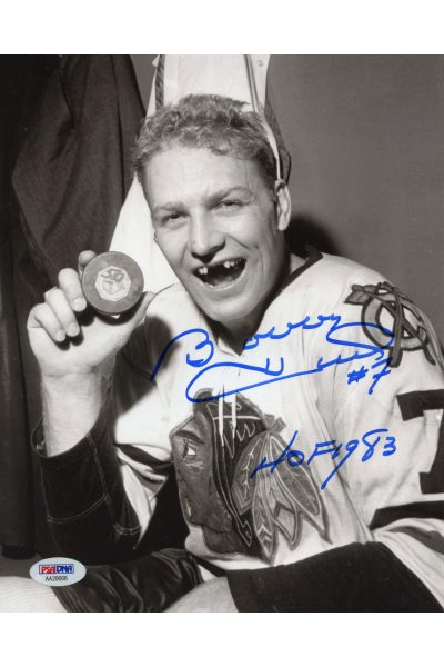 Bobby Hull 8x10 Photo Signed Autographed Auto PSA DNA COA Blackhawks HOF