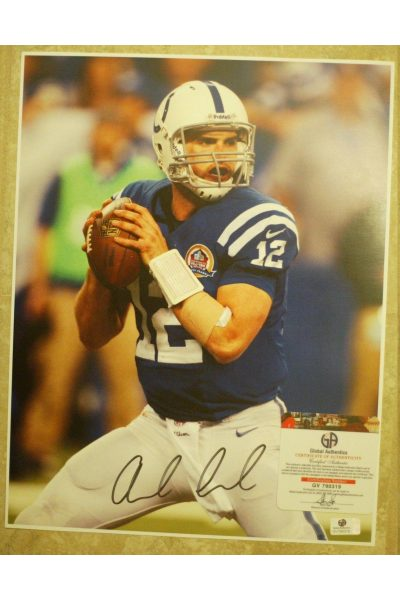 Andrew Luck Signed 11x14 Photo Autographed GA GAI Colts Stanford