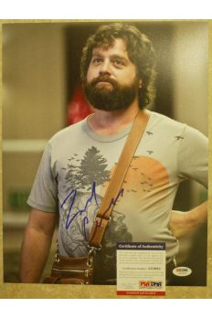 Zach Galifianakis 11x14 Photo Signed Autographed Auto PSA DNA the Hangover