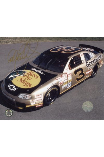 Dale Earnhardt Signed 8x10 Car Photo Autographed