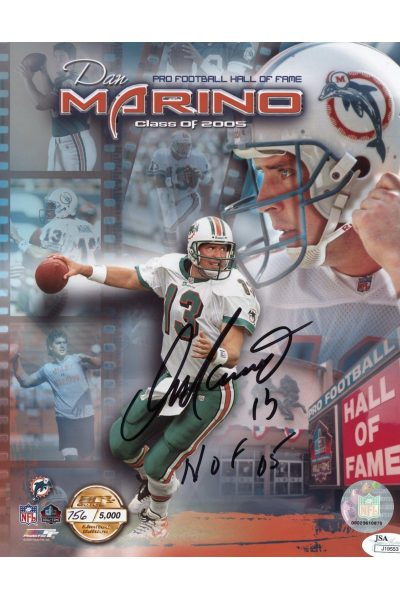 Dan Marino 8x10 Signed Autograph Auto JSA Authenticated Inscribed HOF 05