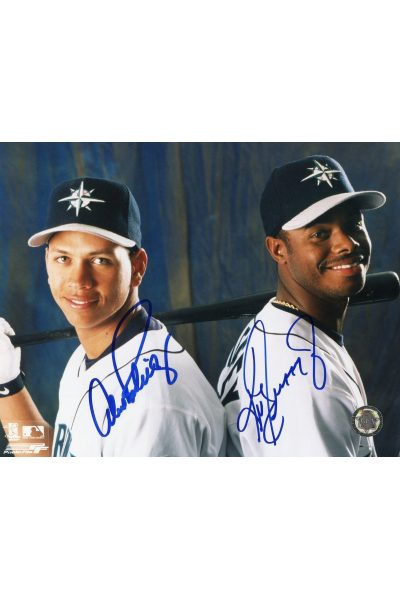 Ken Griffey Jr Alex Rodriguez Signed 8x10 Photo Autographed