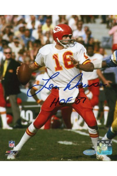 Len Dawson 8x10 Photo Signed Autographed Auto COA Steiner Sports Chiefs HOF