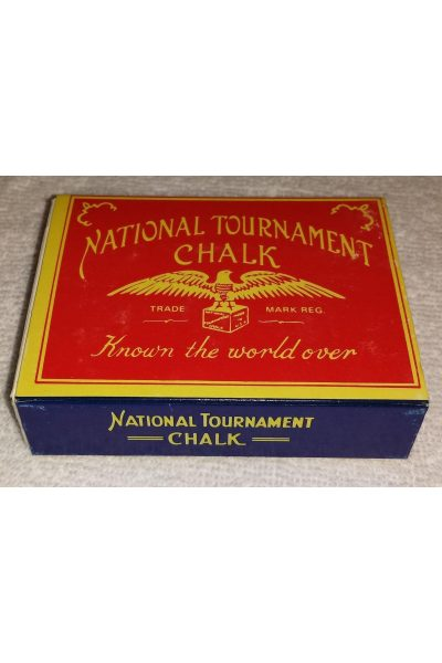 National Tournament Chalk Vintage Billiards Pool box of 12 Cubes New In Box