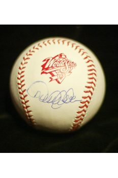 Derek Jeter Signed Baseball Autographed Steiner 1998 World Series Yankees