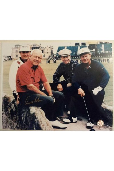 Arnold Palmer Signed 11x14 Photo 1995 British Open Watson Jack Nicklaus