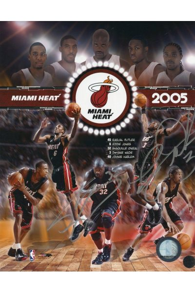 Dwyane Wade Shaquille O'Neal 8x10 Photo Signed Autographed Authenticated COA