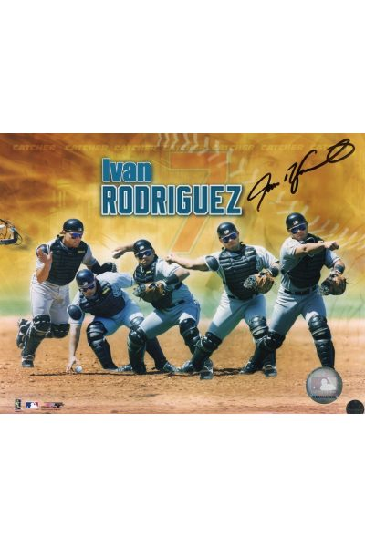 Pudge!!! Ivan Rodriguez 8x10 Photo Signed Autographed Authenticated COA