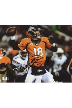 Peyton Manning Signed 8x10 Photo Autographed Auto GA GAI COA Broncos