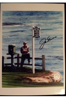 Jack Nicklaus Signed 9x12 Photo 2000 US Open Pebble Beach Last Round