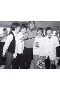 Muhammad Ali Signed 8x10 Photo Autographed with The Beatles
