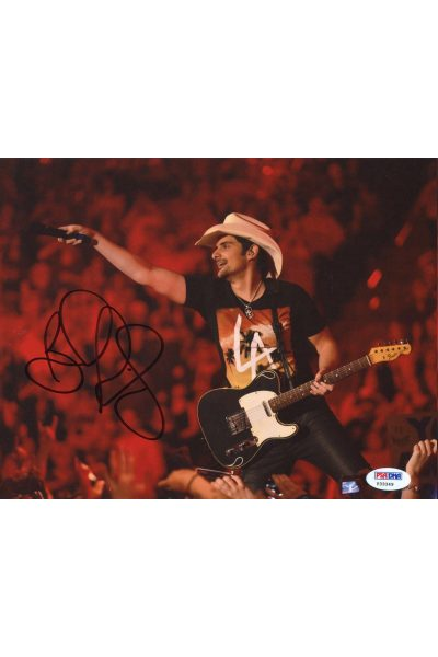 Brad Paisley 8x10 Photo Signed Autographed Auto PSA DNA Country Music Superstar