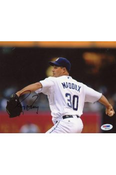 Greg Maddux 8x10 Photo Signed Autographed Auto PSA DNA COA Braves HOF