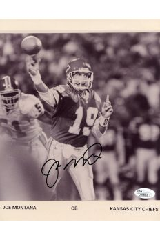 Joe Montana 8x10 Photo Signed Autographed Auto Authenticated JSA COA Chiefs