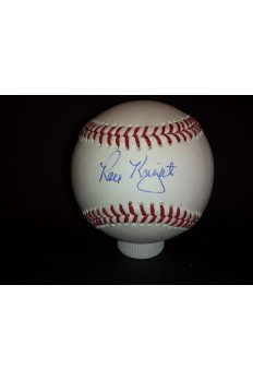 Ray Knight Signed Offical Baseball Autographed Auto Steiner 1986 Mets Ws MVP