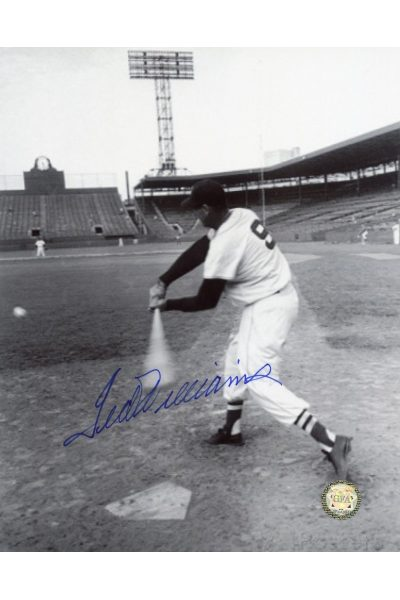 Ted Williams Signed 8x10 Photo Autographed Batting B&W
