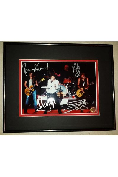 The Rolling Stones 8x10 Signed Autographed Framed Mick Jagger Keith Richards