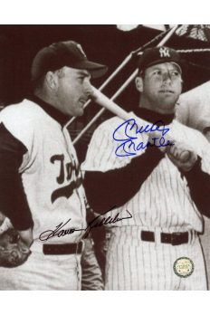 Mickey Mantle Harmon Killebrew Signed 8x10 Photo Autographed