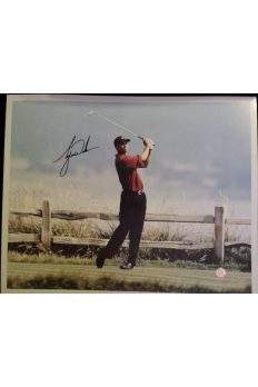 Tiger Woods Signed 16x20 Photo Autographed US Open Pebble Beach