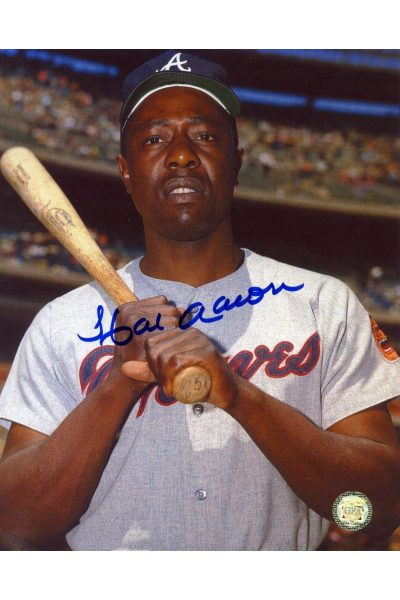 Hank Aaron Signed 8x10 Photo Autographed