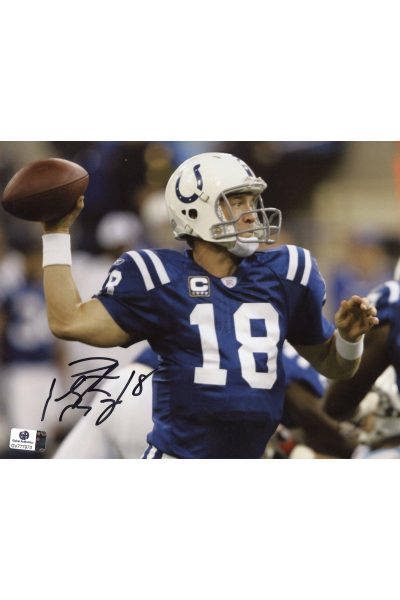 Peyton Manning Signed 8x10 Photo Autographed Auto GA GAI COA Colts