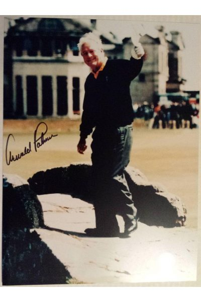Arnold Palmer Signed 9x12 Photo 1995 British Open Final Swilcan Bridge