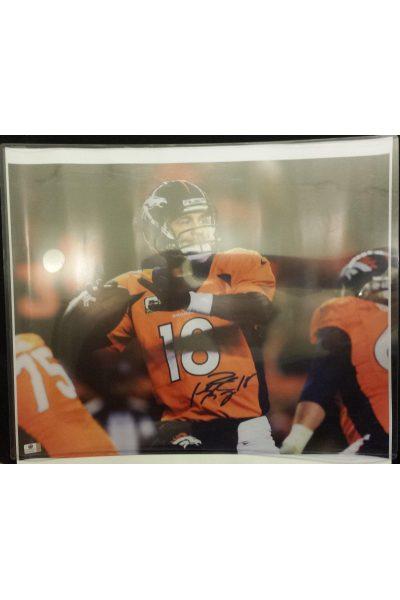 Peyton Manning Signed 16x20 Photo Autographed Auto GA GAI COA Colts Broncos