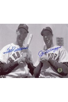 Joe DiMaggio Ted Williams Signed 8x10 Photo Autographed