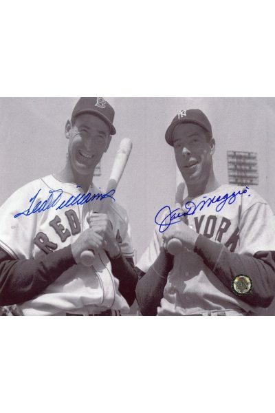 70524f1ba26 Joe DiMaggio Ted Williams Signed 8x10 Photo Autographed GFA HOF ...