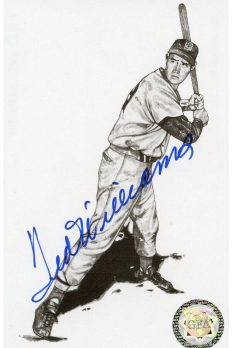 Ted Williams Signed Thumpu Postcard Autographed