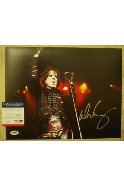 Alice Cooper 11x14 Photo Signed Autographed Auto PSA DNA Poison Killer