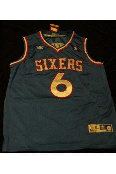 "Julius Erving ""Dr J"" Signed Autographed Jersey 76ers Adidas XL New"