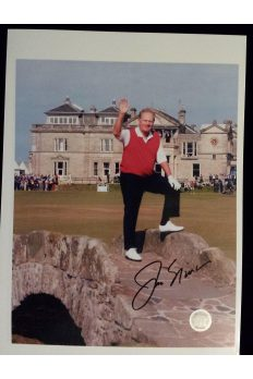 Jack Nicklaus Signed 9x12 Photo 2005 St Andrew British Open Swilcan
