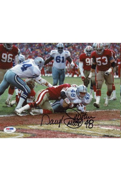 Daryl Moose Johnston 8x10 Photo Signed Autographed Auto PSA DNA COA Cowboys