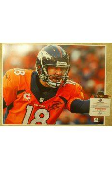 Peyton Manning Signed 11x14 Photo Autographed Auto GA GAI COA Colts Broncos
