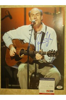 James Taylor 11x14 Photo Signed Autographed Auto PSA DNA Sweet baby James