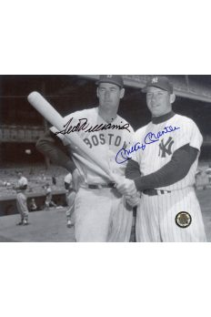Mickey Mantle Ted Williams Signed 8x10 Photo Autographed