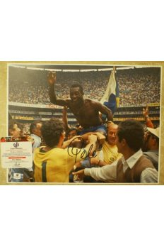 Pele Signed 11x14 Photo Autographed Auto GA GAI COA World Cup Brazil Soccer