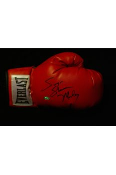 Sugar Shane Mosley Signed Boxing Glove Autographed Leaf Red Everlast