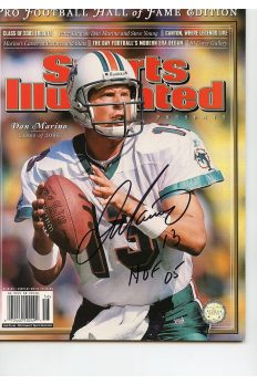 Dan Marino Signed SI HOF Inscribed Autographed
