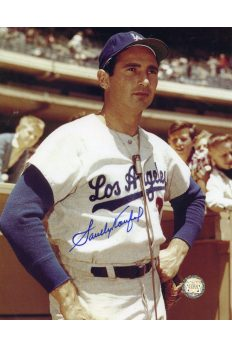 Sandy Koufax Signed 8x10 Photo Autographed Interview
