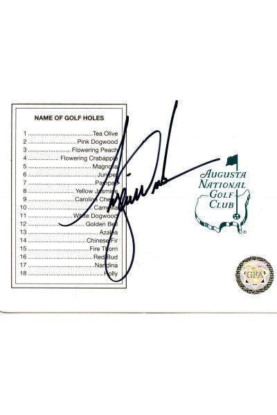 Tiger Woods Signed Masters Scorecard Autographed Early Score Card