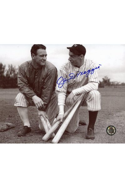 Joe DiMaggio Signed 8x10 Photo Autographed with Lou Gehrig