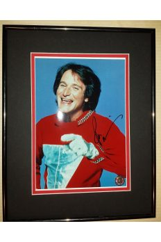 Robin Williams 8x10 Signed Autographed Framed Mork Mindy
