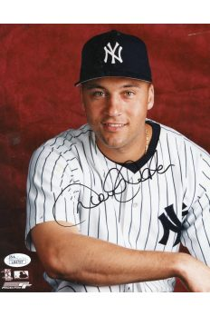 Derek Jeter 8x10 Photo Signed Autographed Auto Authenticated JSA COA Yankees HOF