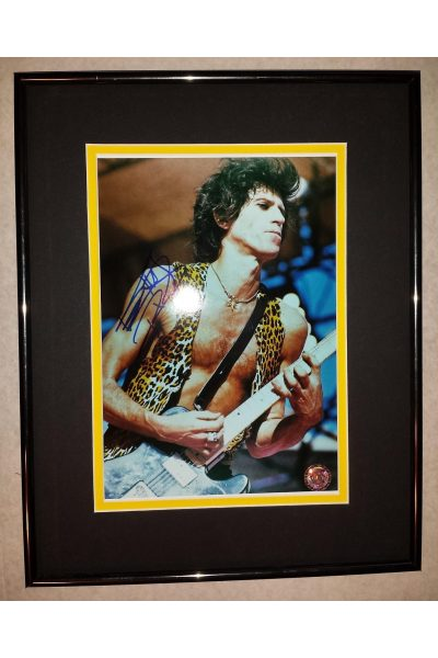 Keith Richards 8x10 Signed Autographed Framed Rolling Stones