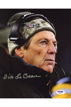 Dick LeBeau 8x10 Photo Signed Autographed Auto PSA DNA COA Steelers Lions