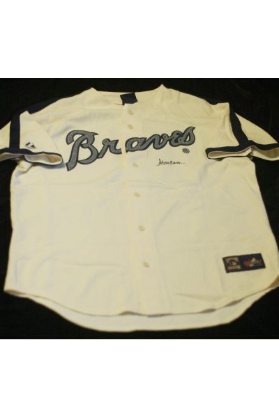 Hank Aaron Signed Autographed Jersey Majestic XL Cooperstown Collection