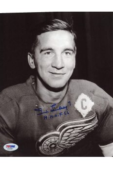 Ted Lindsay 8x10 Photo Signed Autographed Auto PSA DNA COA Red Wings HOF